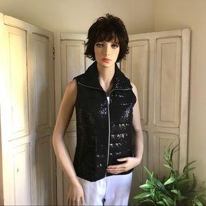 Black sequin vest